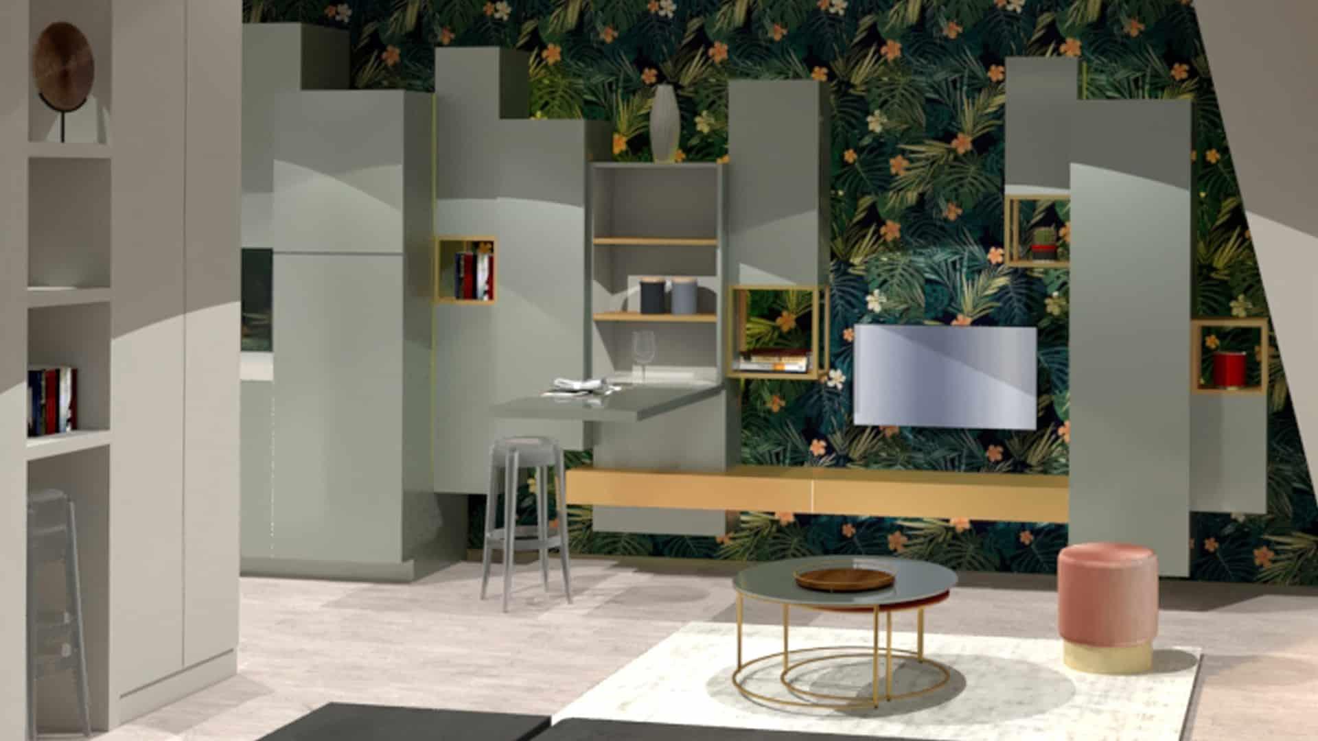 Appartement rue de Rennes. Vittoria Rizzoli architecte italien à paris